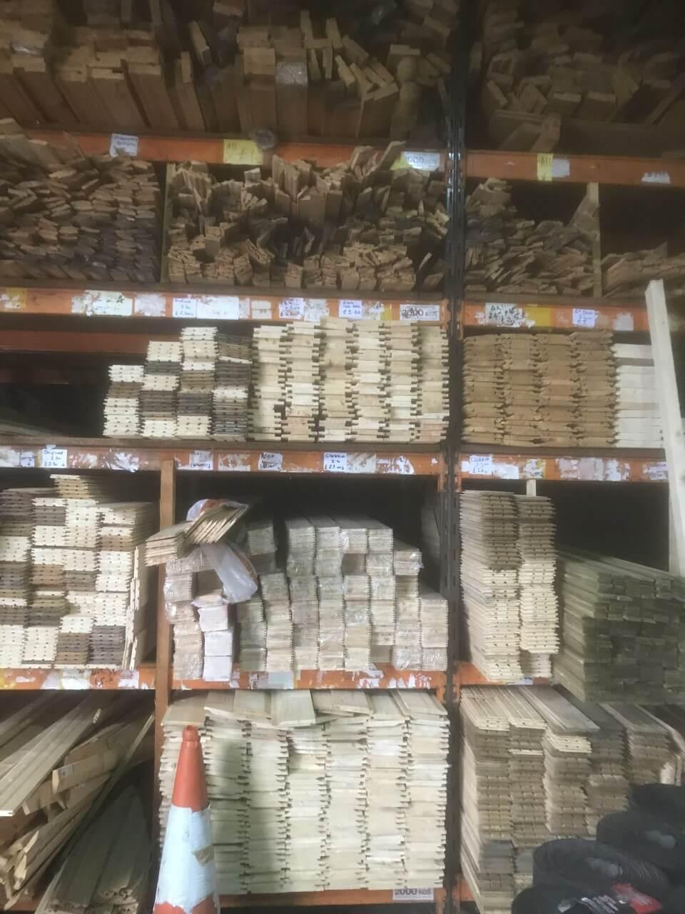 timber warehouse stock